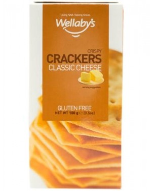 Wellaby's Crispy Crackers Classic Cheese 100g