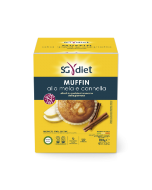 Sg Diet Muffin Mela Cannella 180 G
